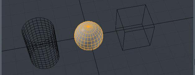 La sfera, il cilindro e il cubo appartengono a Items diversi