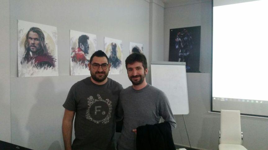 Gennaro Esposito (CEO Digital Shark Academy e me (Juan Pablo De Maio)
